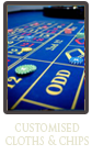 Customised Cloths | MCN Casino Equipment | Casino Table Hire and Sales, North West