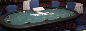 Poker Table with Metal Folding Legs